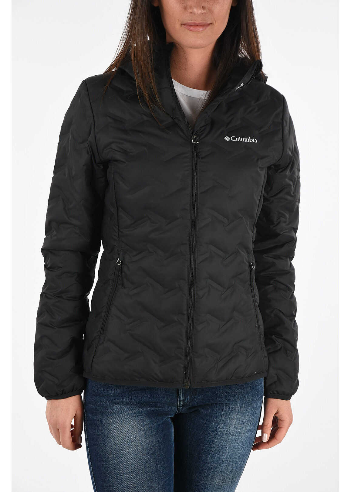 Columbia Hooded Down Padded Jacket BLACK