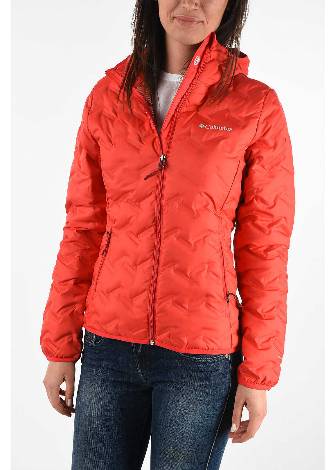 Columbia Hooded Down Padded Light Jacket RED