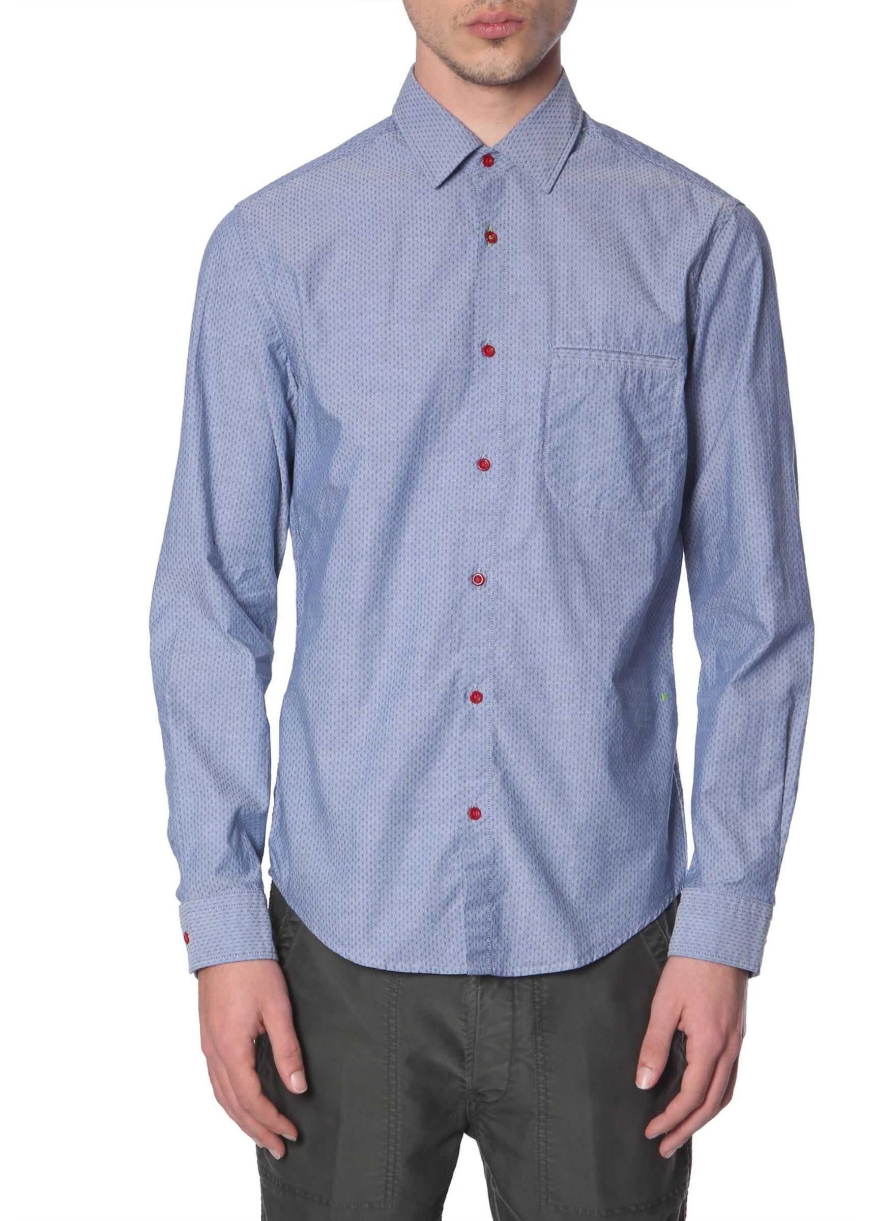 "BOSS ""Brolin_R"" Shirt BLUE imagine"
