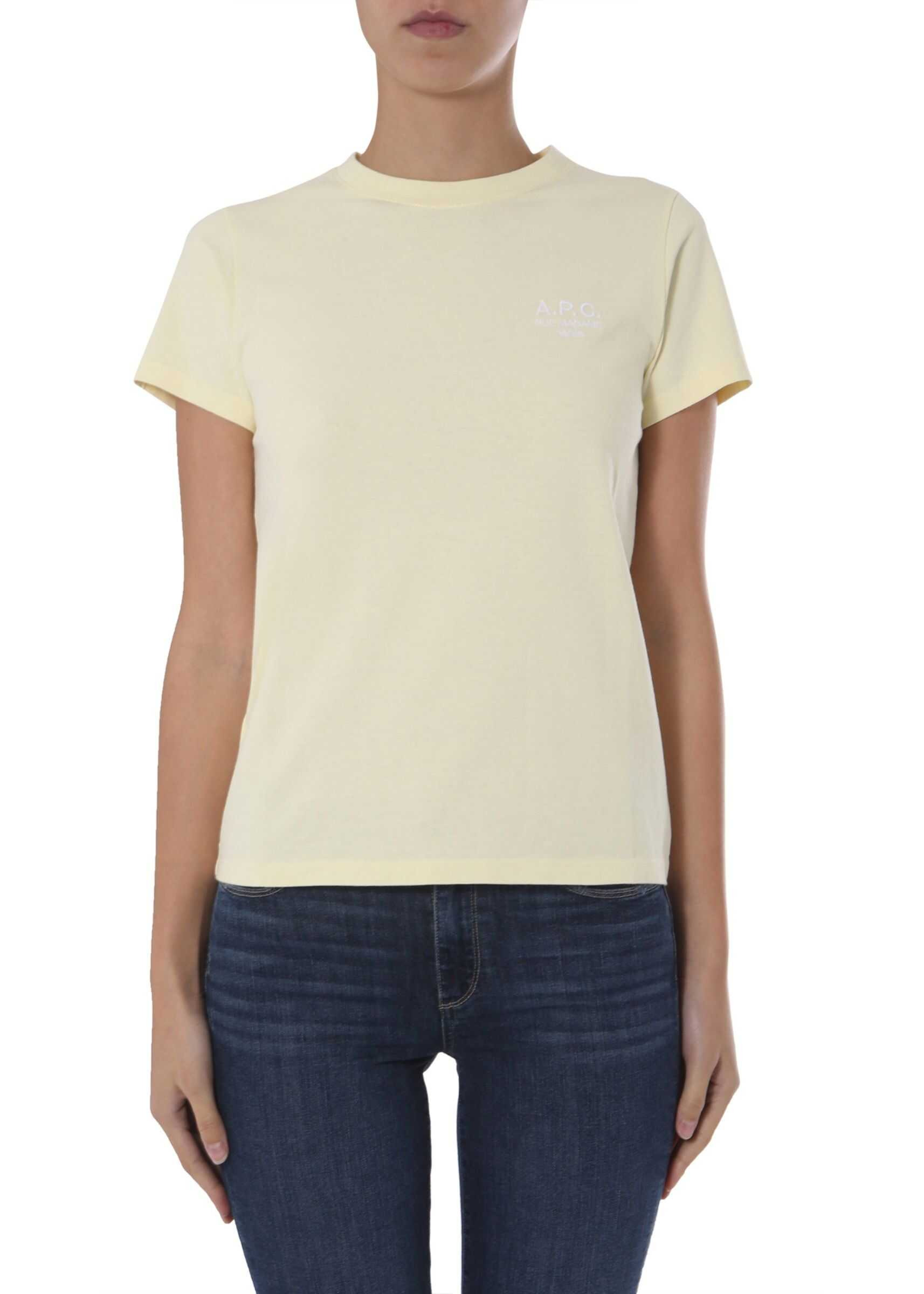 A.P.C. Round Neck T-Shirt YELLOW