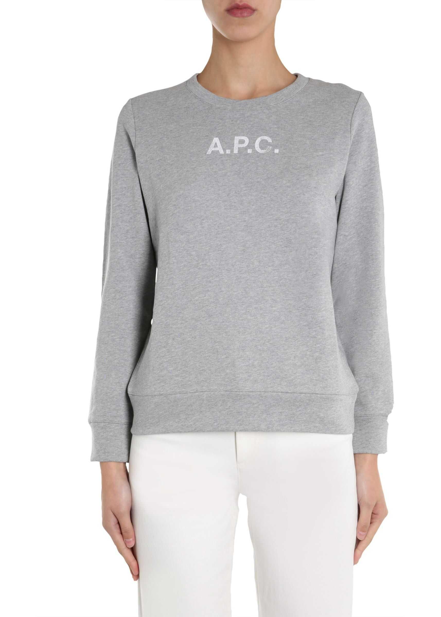 A.P.C. Round Neck Sweatshirt GREY