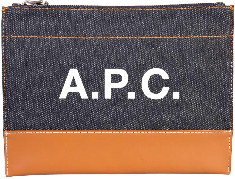 A.P.C. Axelle Clutch BROWN