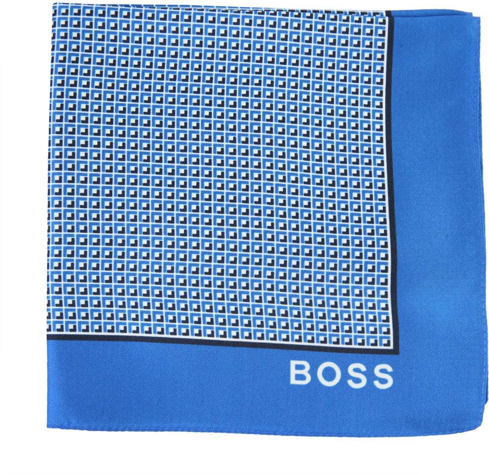 BOSS Printed Scarf BLUE