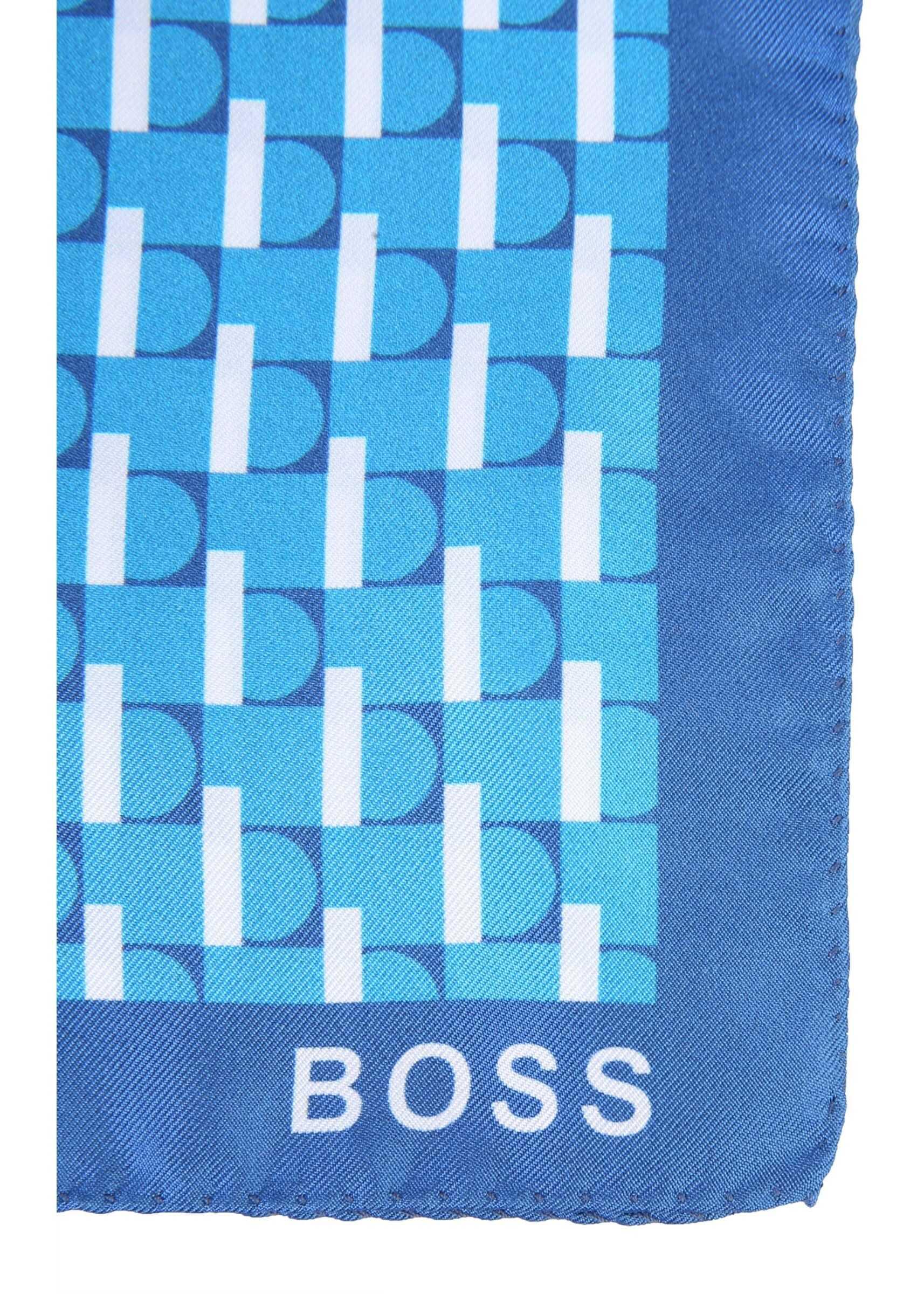 BOSS Printed Scarf AZURE