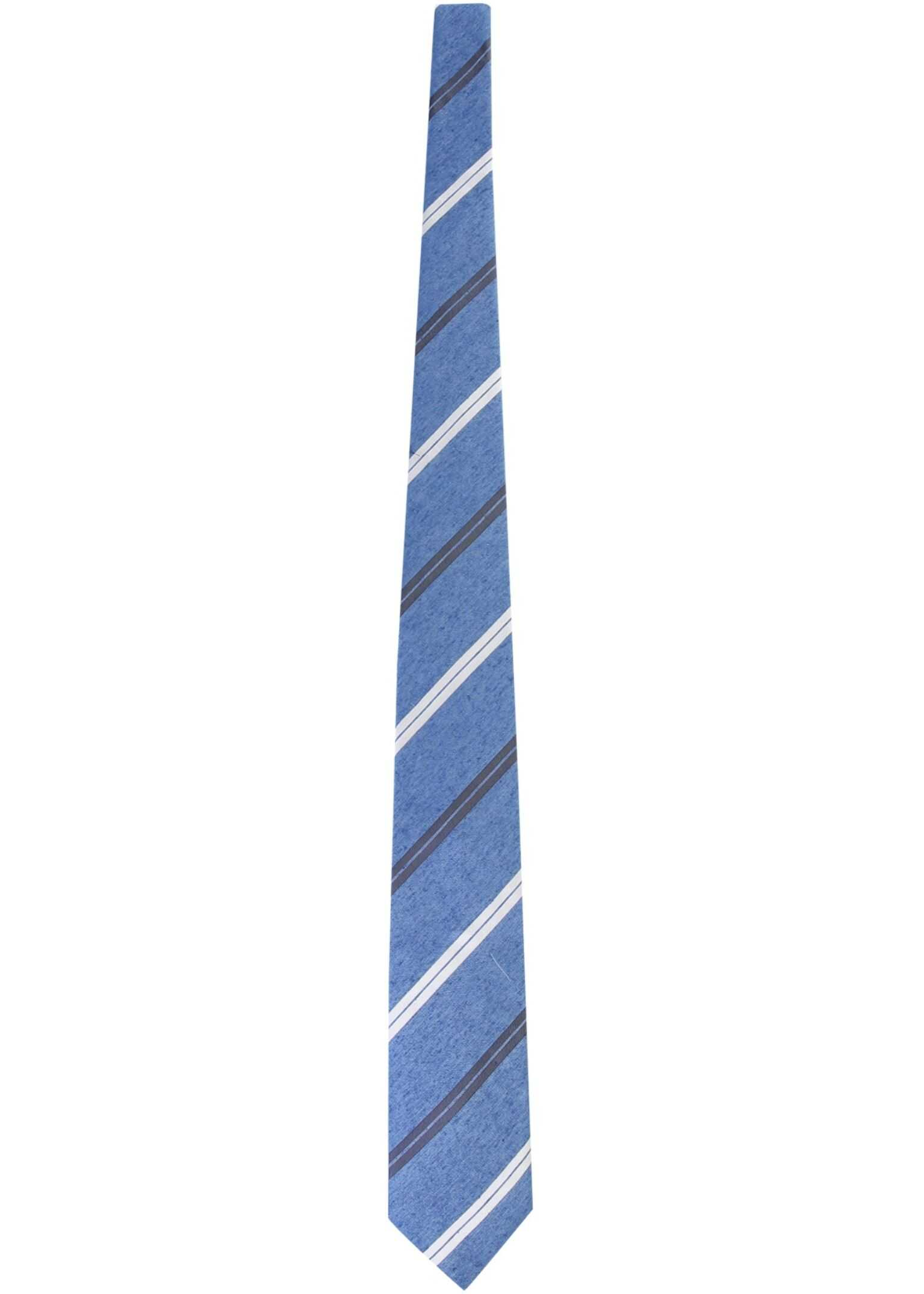 BOSS Tie With Stripe Pattern BLUE