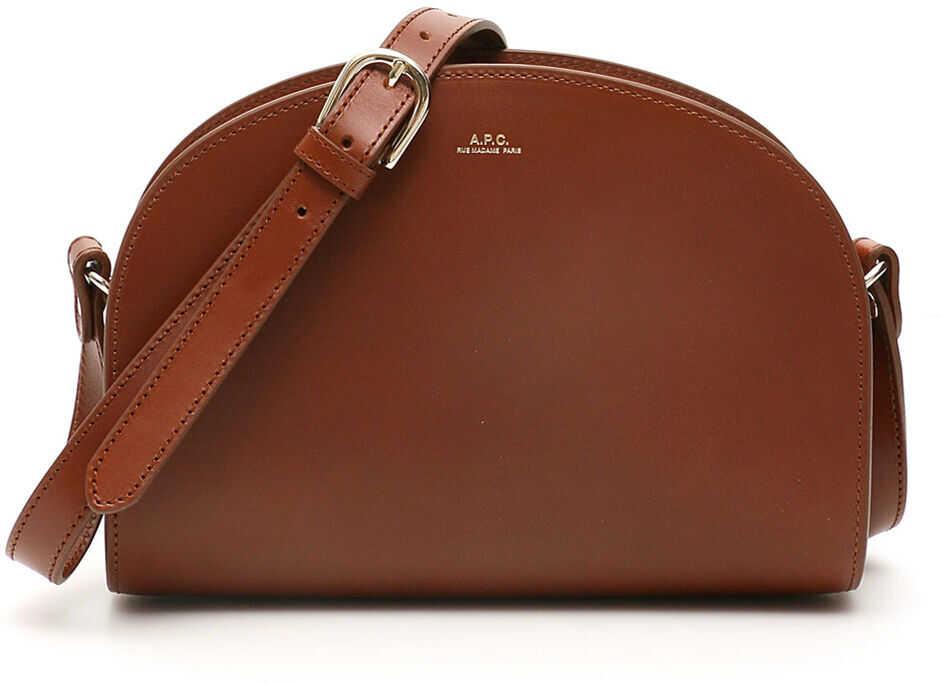 A.P.C. A.p.c. Demi Lune Crossbody Bag NOISETTE