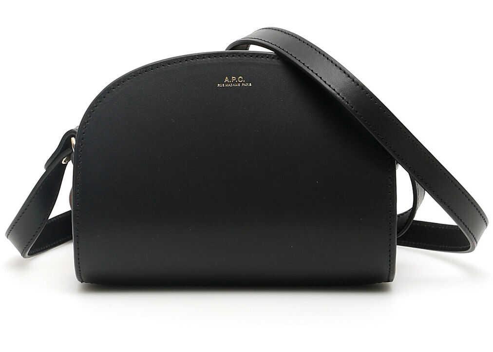 A.P.C. A.p.c. Demi Lune Crossbody Mini Bag NOIR