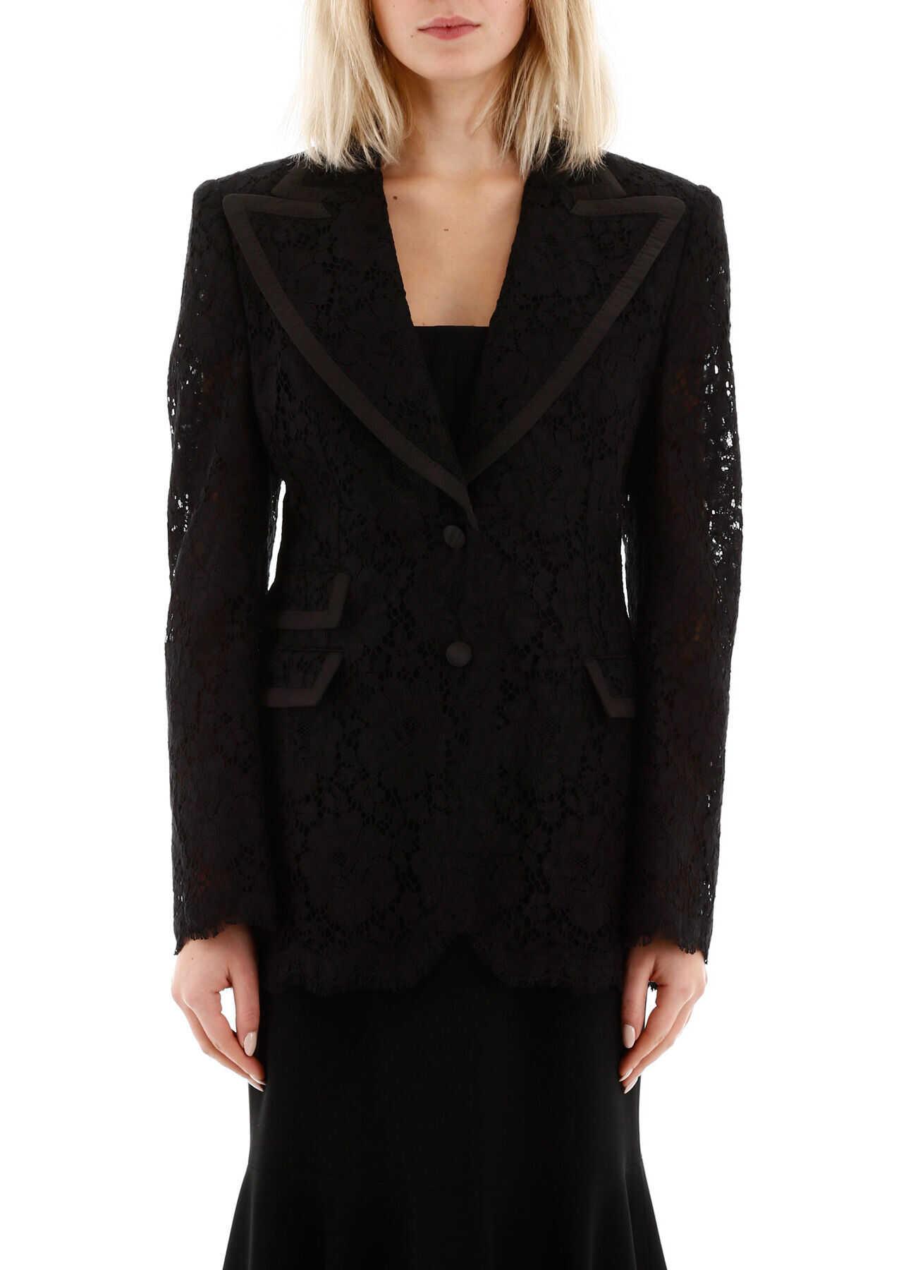 Dolce & Gabbana Lace Jacket NERO