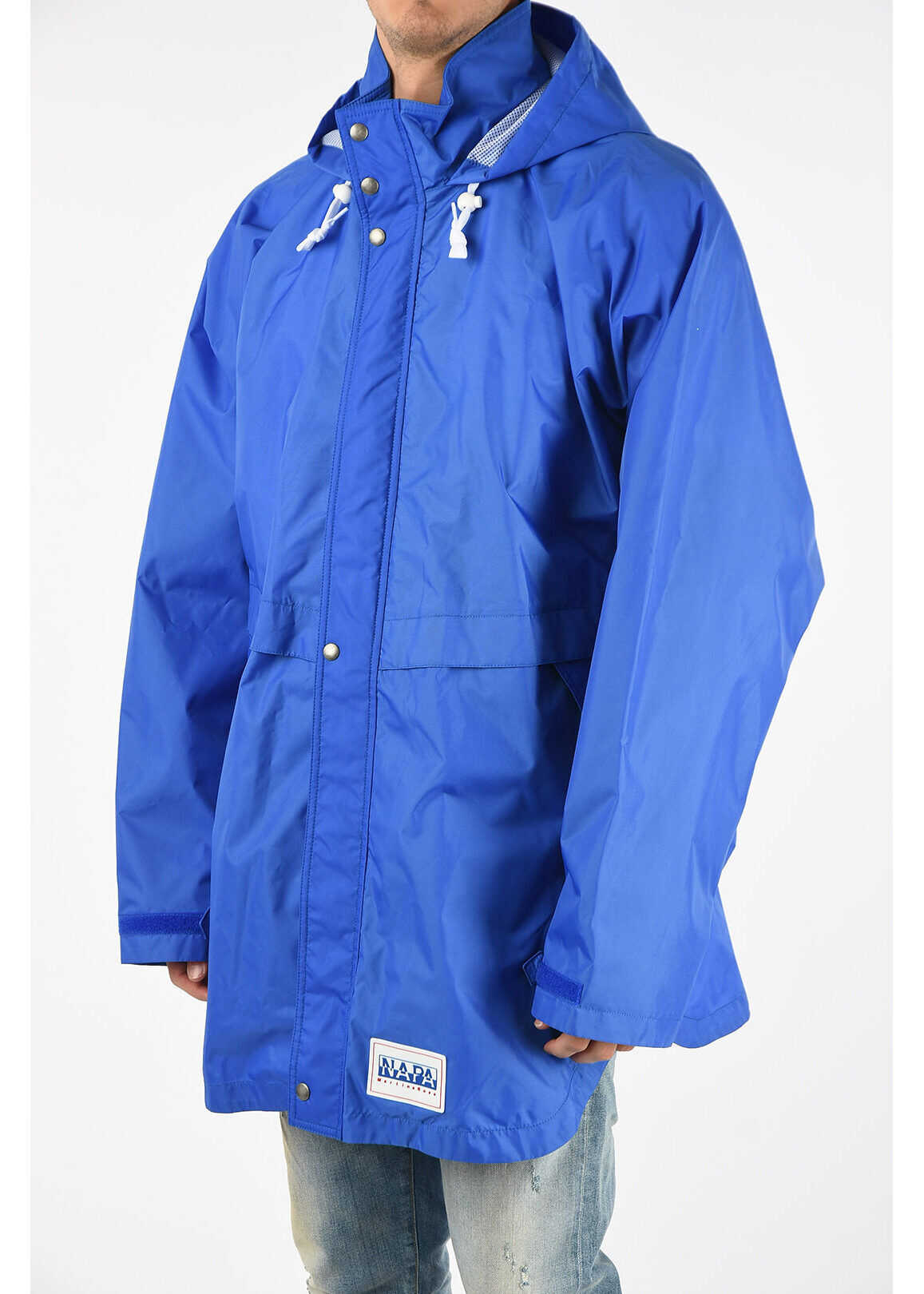 Napapijri MARTINE ROSE Waterproof RAINFOREST OP ALPHA Coat BLUE imagine