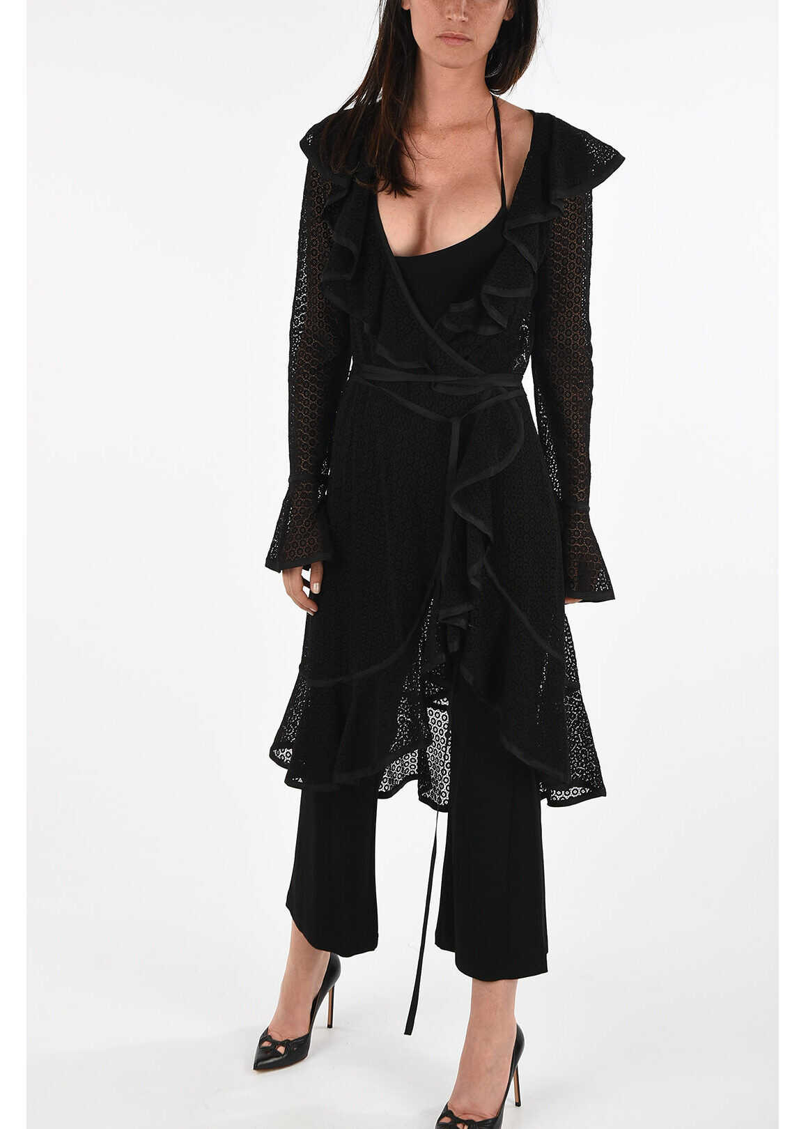 Marc Jacobs REDUX GRUNGE Jumsuit with Lace Cardigan BLACK