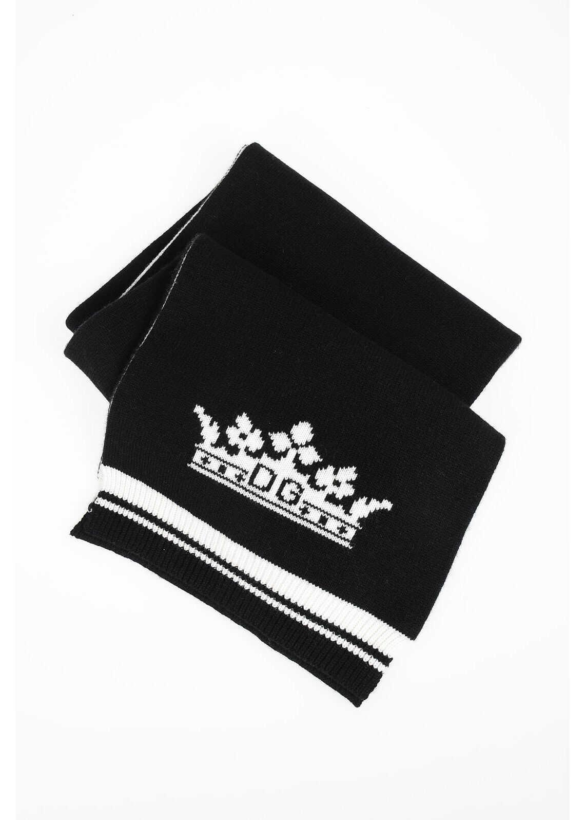 Dolce & Gabbana Cashmere PRINCE Scarf BLACK