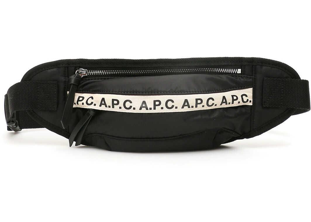 A.P.C. A.p.c. Repeat Logo Beltpack PAACL H62129 NOIR imagine b-mall.ro