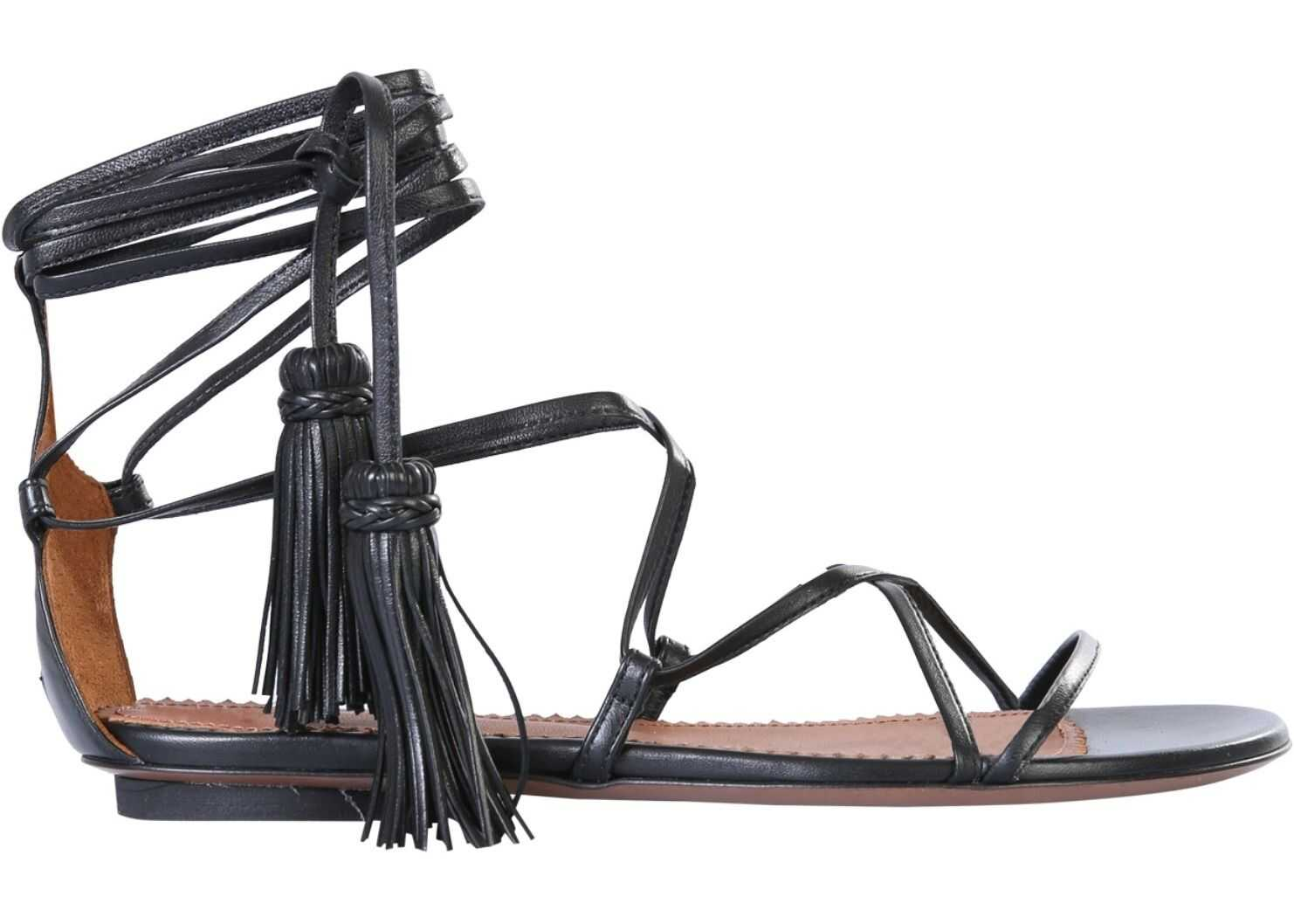 L'Autre Chose Lux Nappa Sandals OSL136.05CC_26151001 BLACK imagine b-mall.ro