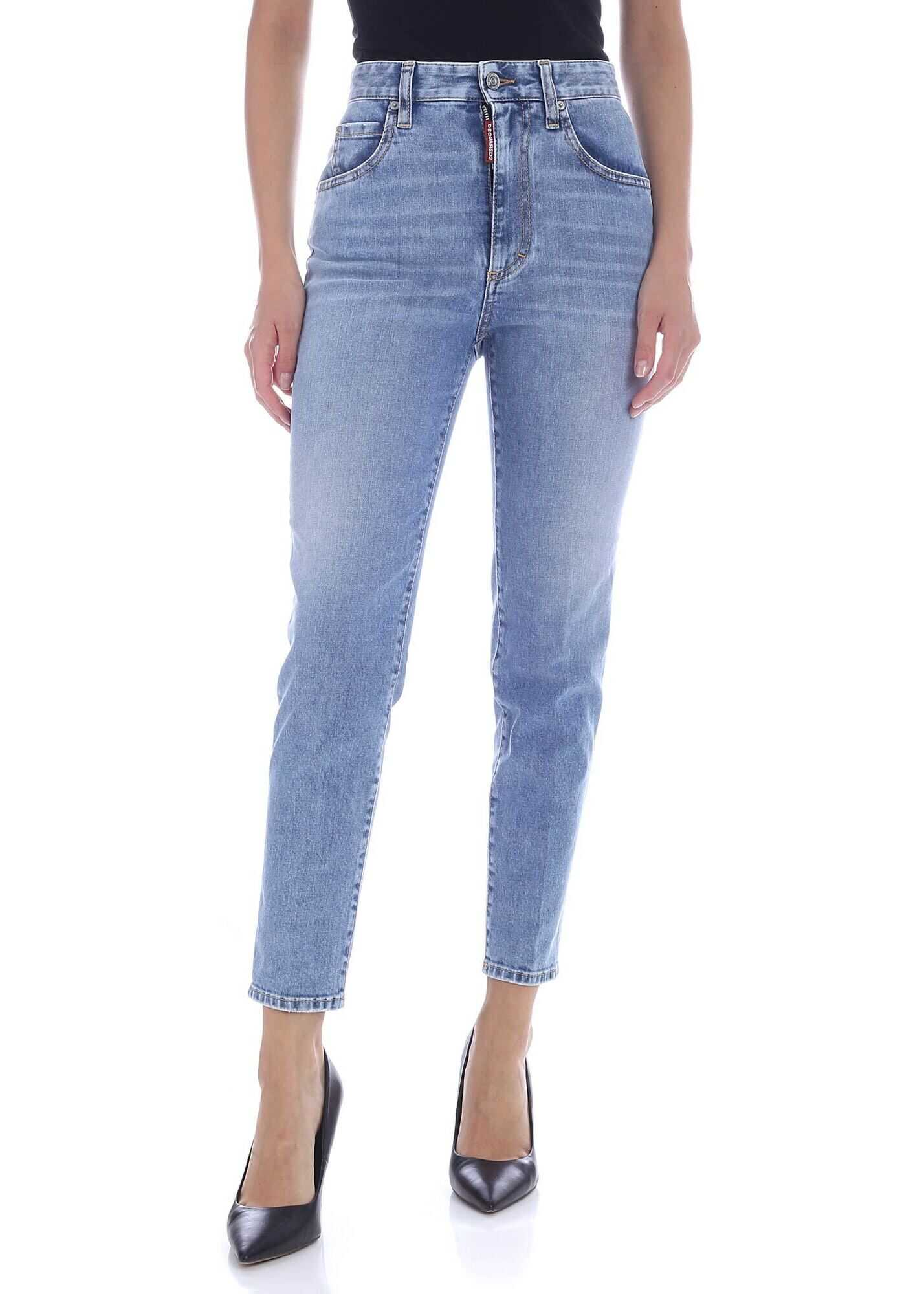 DSQUARED2 Twiggy Jeans In Blue Blue