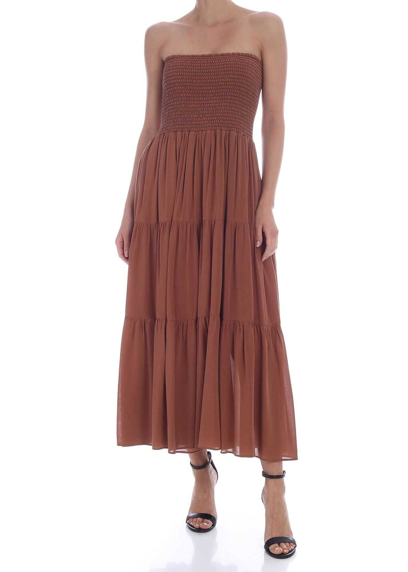 Pinko Lolly Skirt Dress In Brown Brown