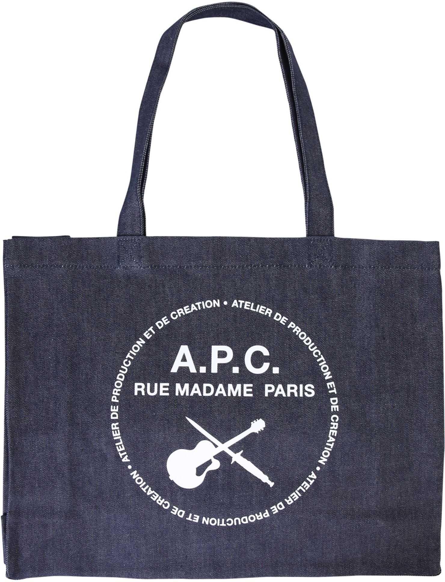 A.P.C. Shopping Bag With Logo BLUE