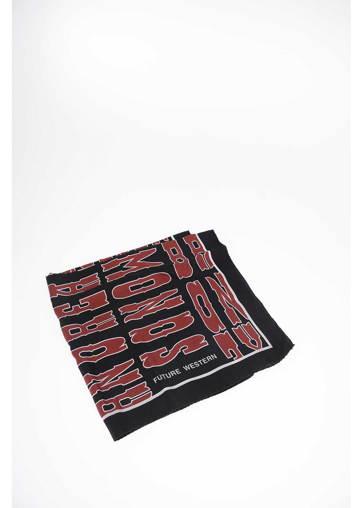 Golden Goose silk BLAINE foulard 60x60 cm BLACK