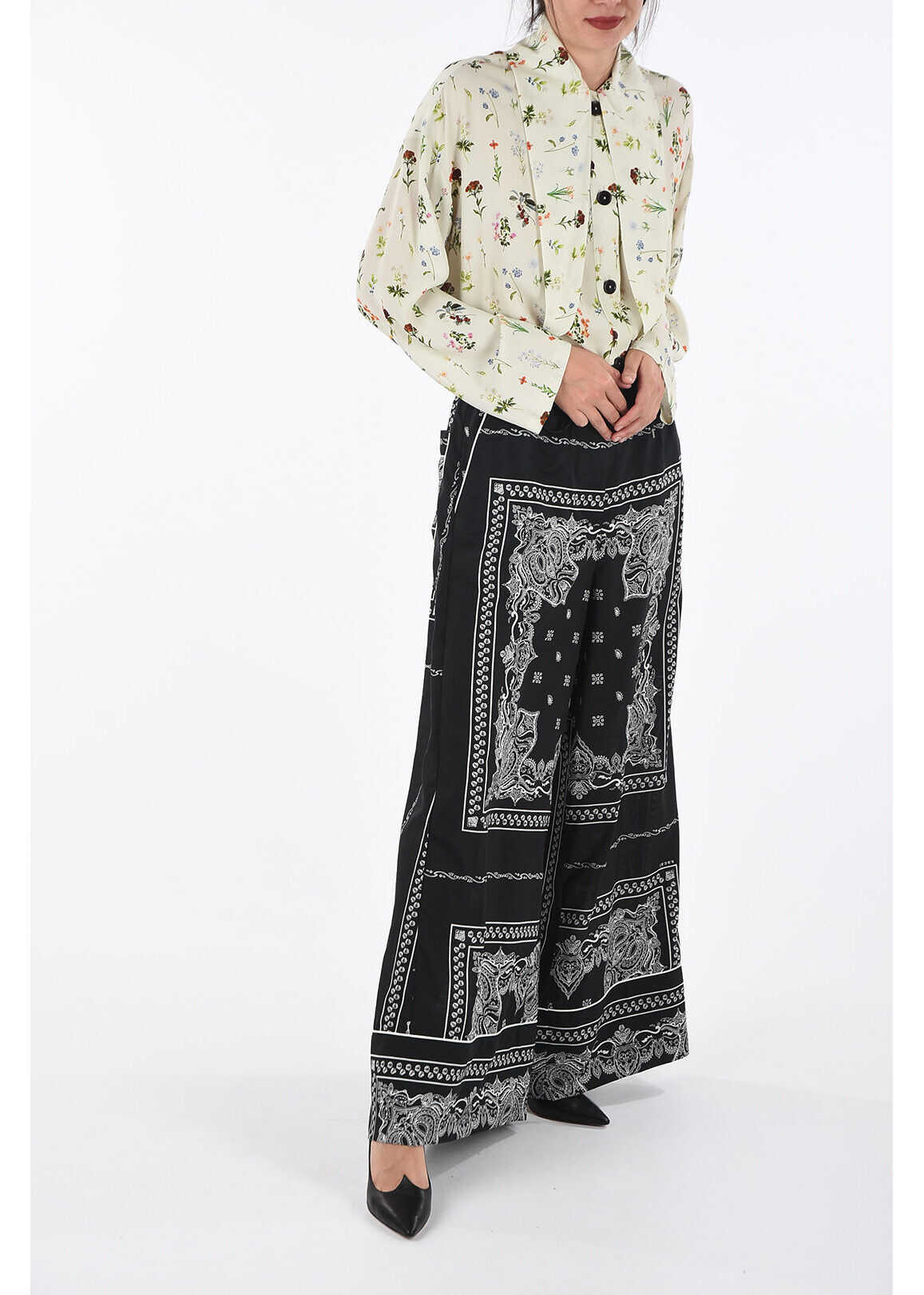 Fay Flowers Printed Blouse WHITE