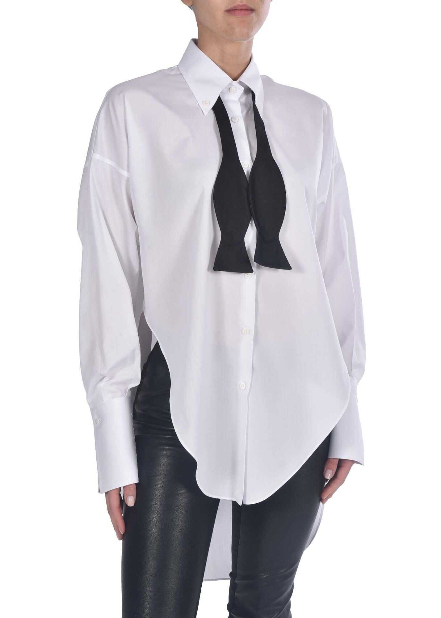 Ermanno Scervino Oversized Shirt With Neck Detail White