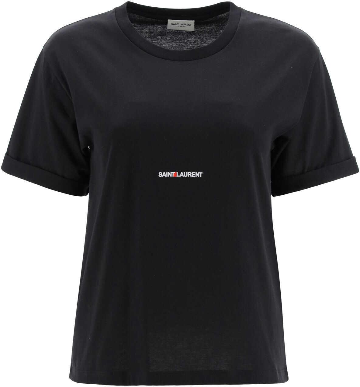 Saint Laurent T-Shirt With Logo NOIR