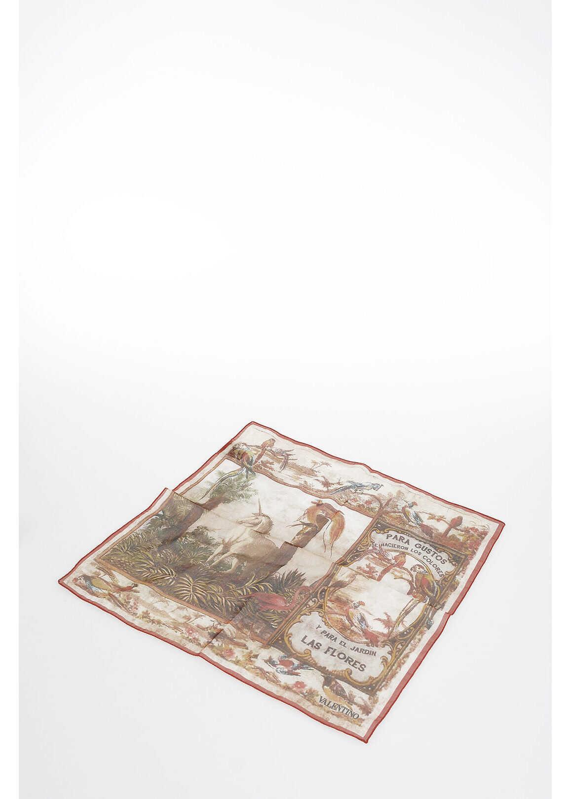 Valentino Garavani 42x42 cm printed foulard MULTICOLOR