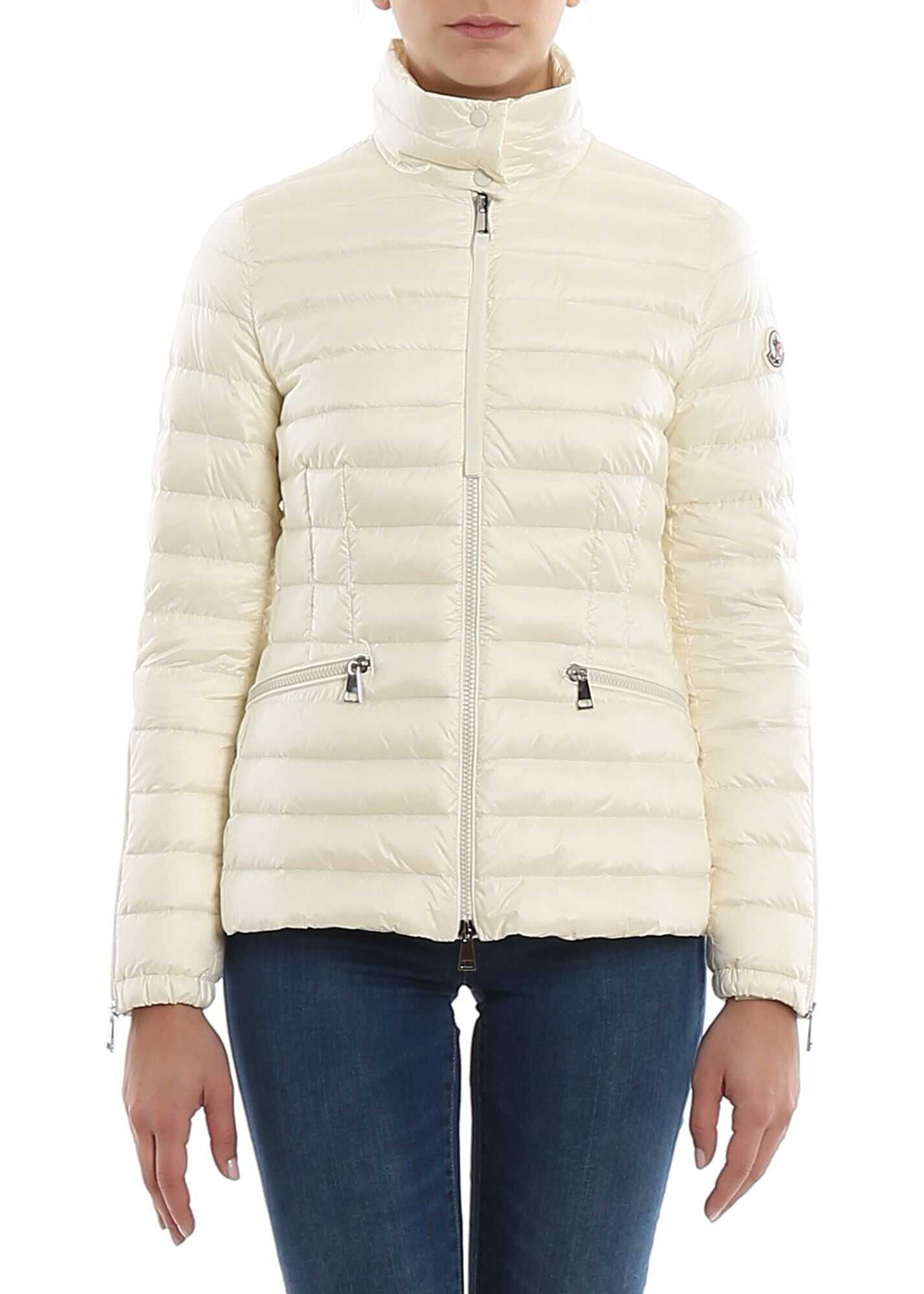 Moncler Safre Puffer Jacket In White White