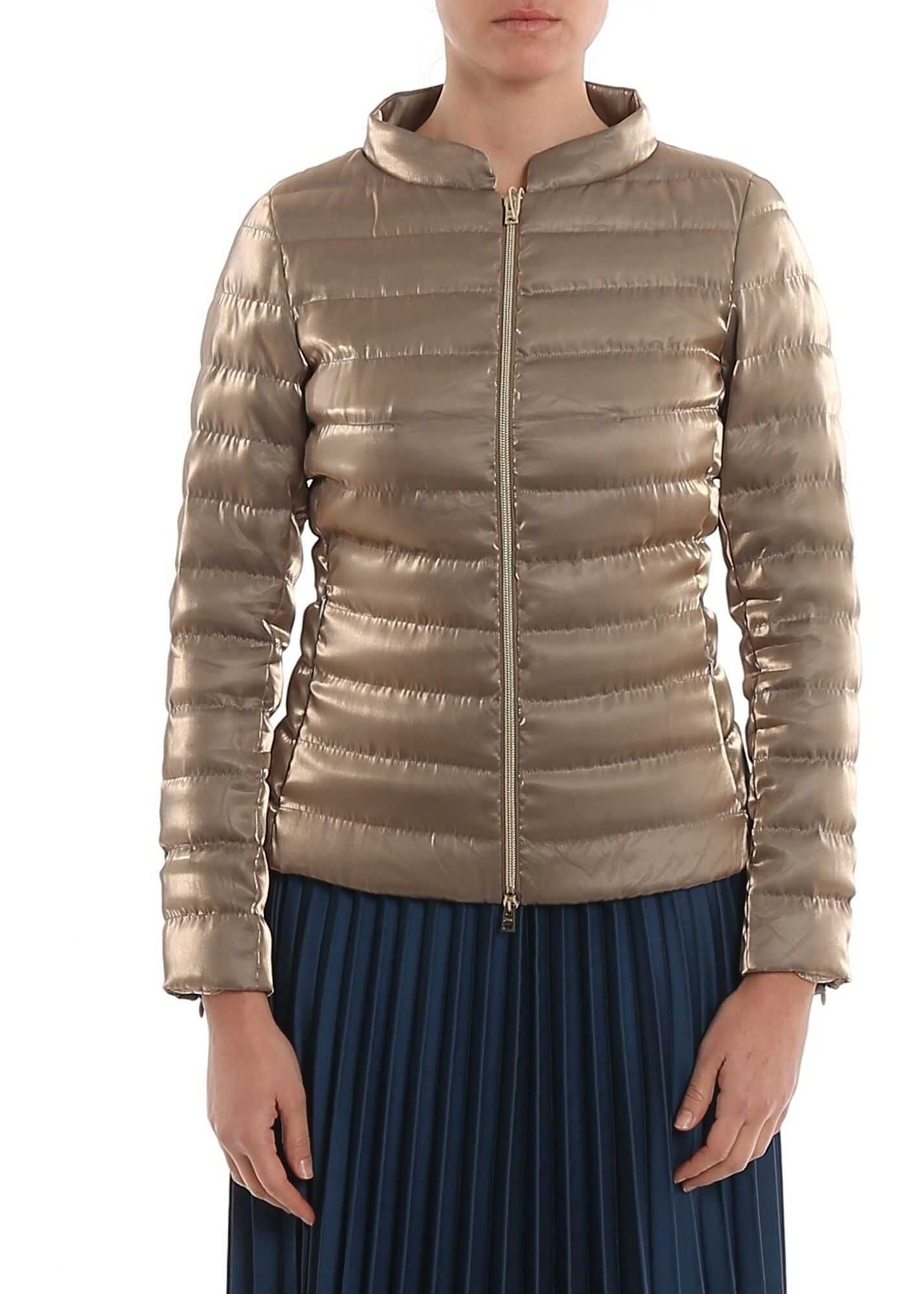 Herno Shimmering Quilted Puffer Jacket Grey