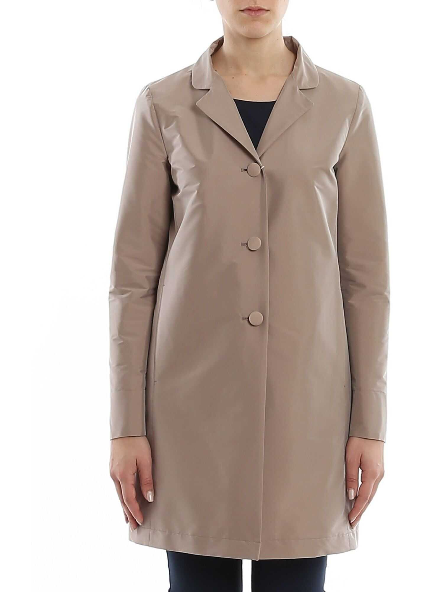 Herno Tech Fabric Coat Grey