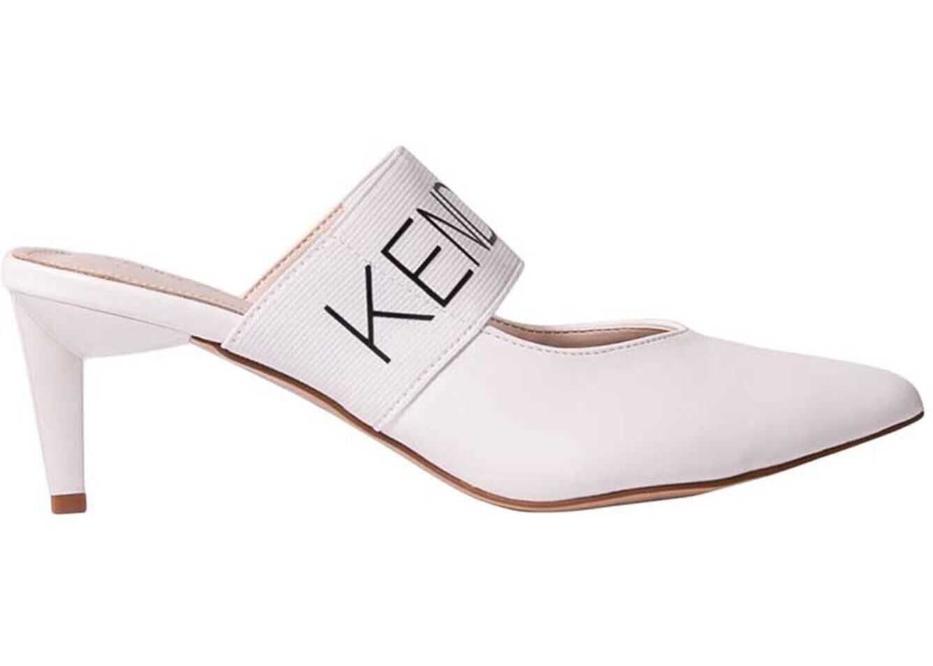 KENDALL + KYLIE Lacey Mules In White LACEY WHT WHT White imagine b-mall.ro