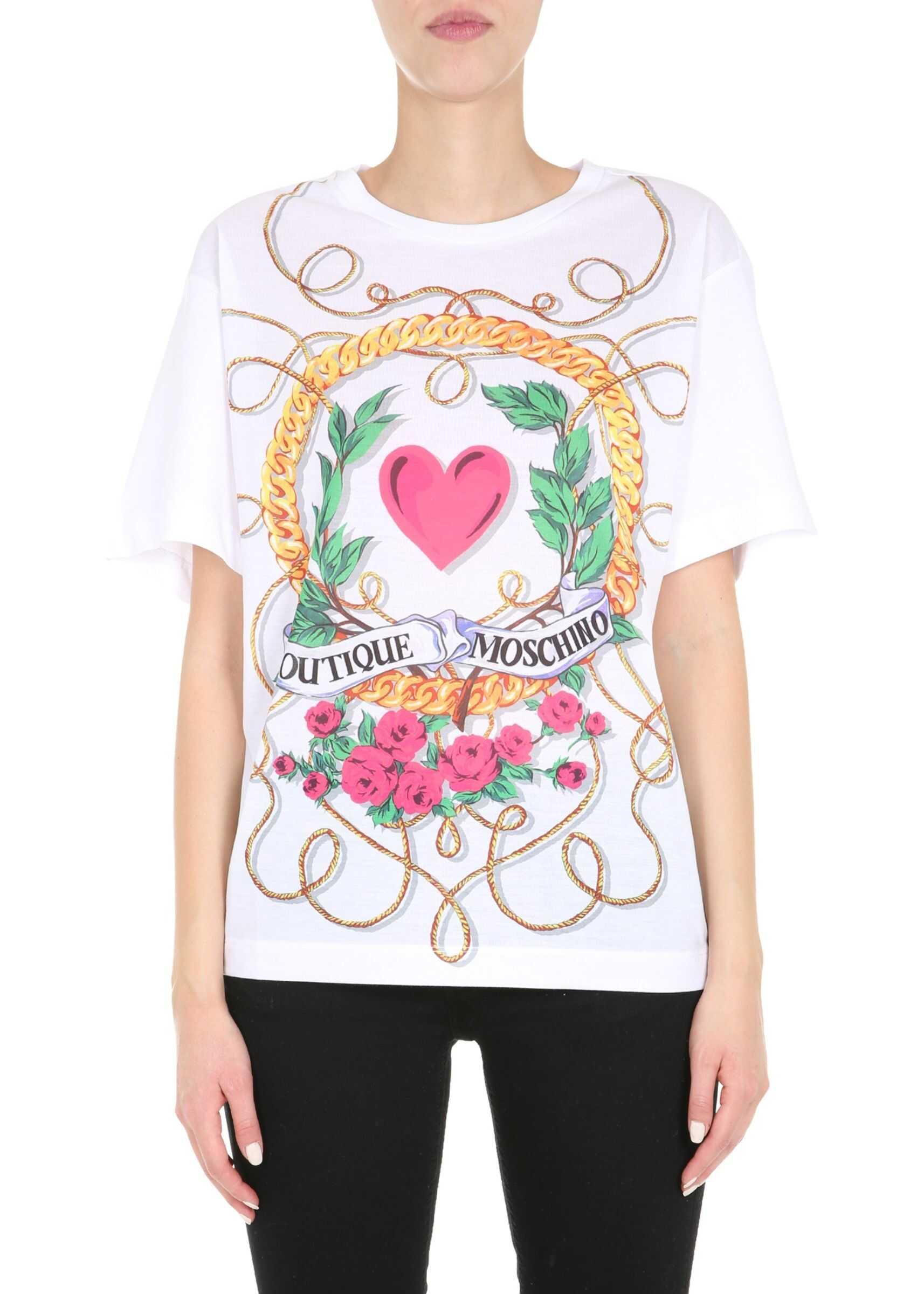 LOVE Moschino T-Shirt Girocollo WHITE