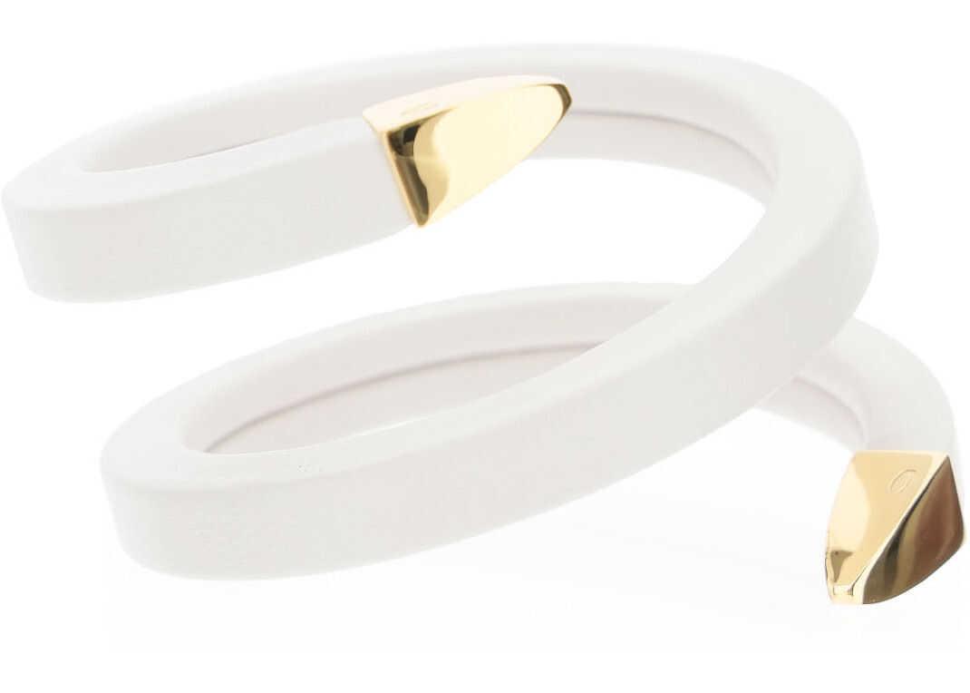 Poza Bottega Veneta Spiral Bracelet BIANCO