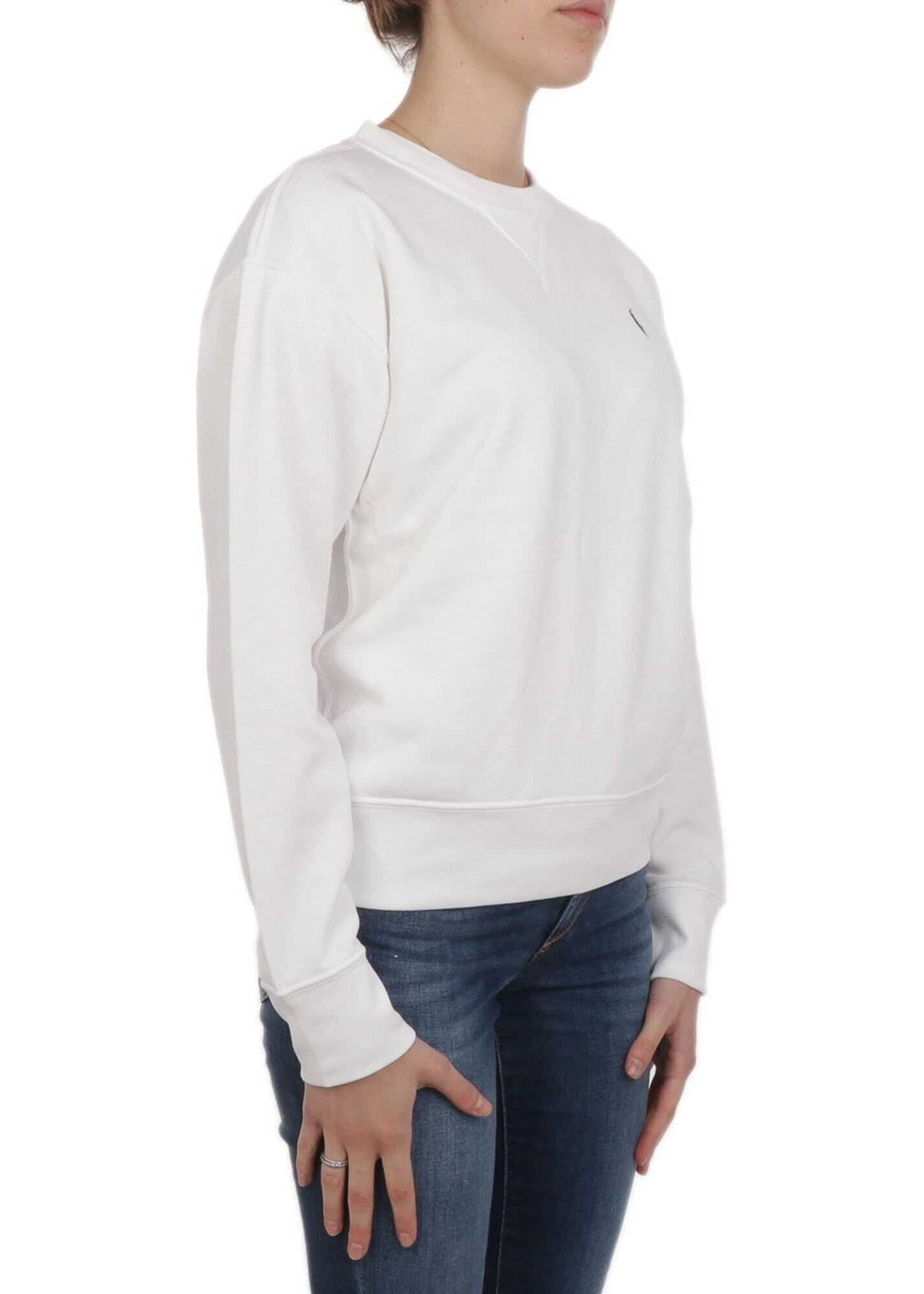 Ralph Lauren Logo Embroidery Sweatshirt White