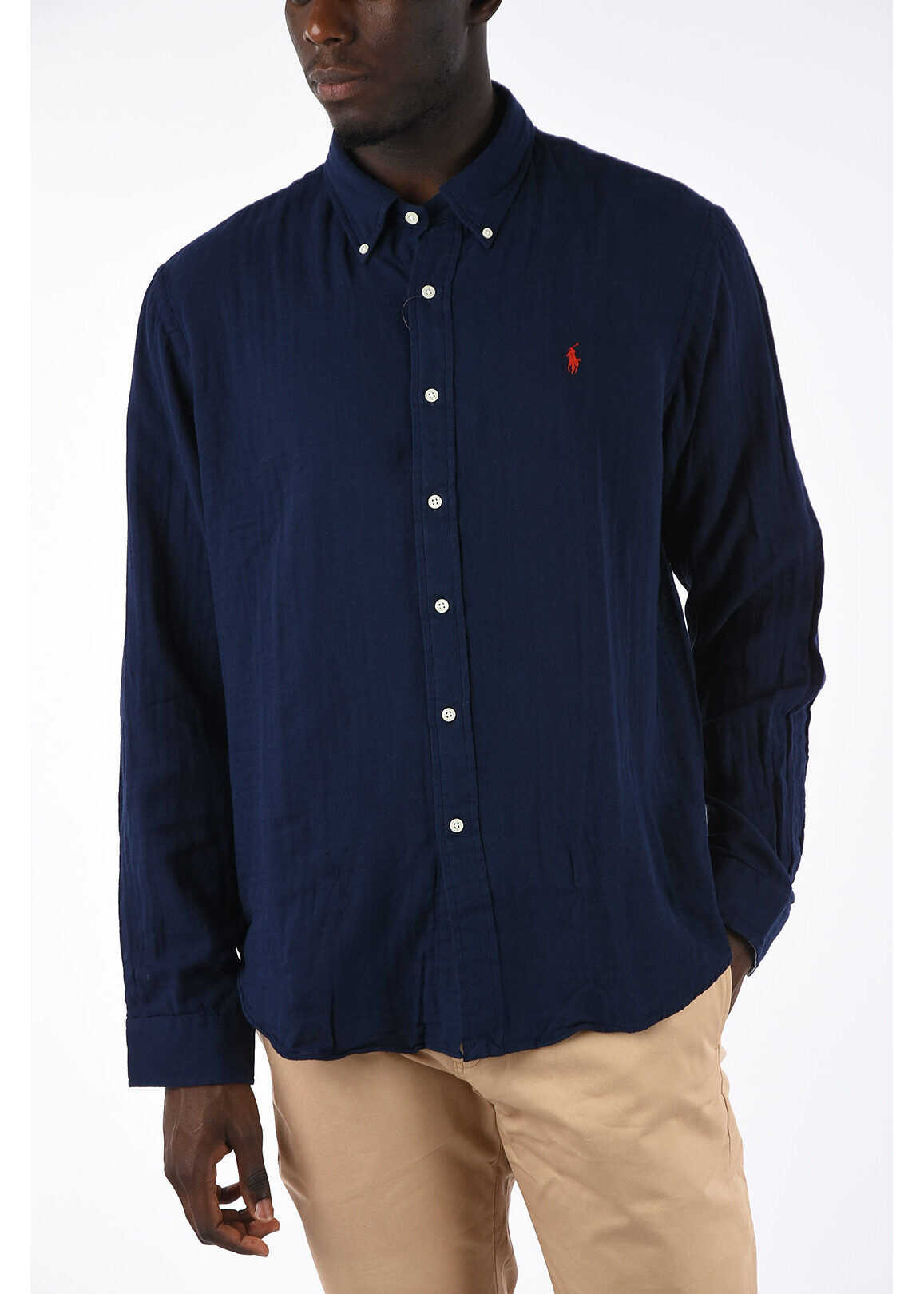 Ralph Lauren Slim Fit Button-Down Shirt BLUE