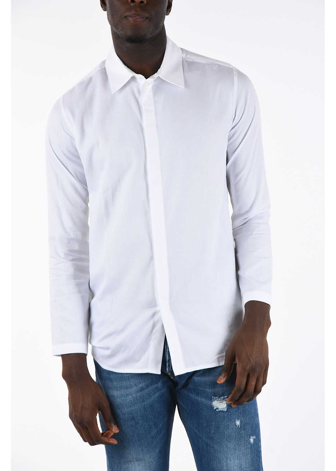 Alyx 1017 9SM Vintage Effect Shirt WHITE
