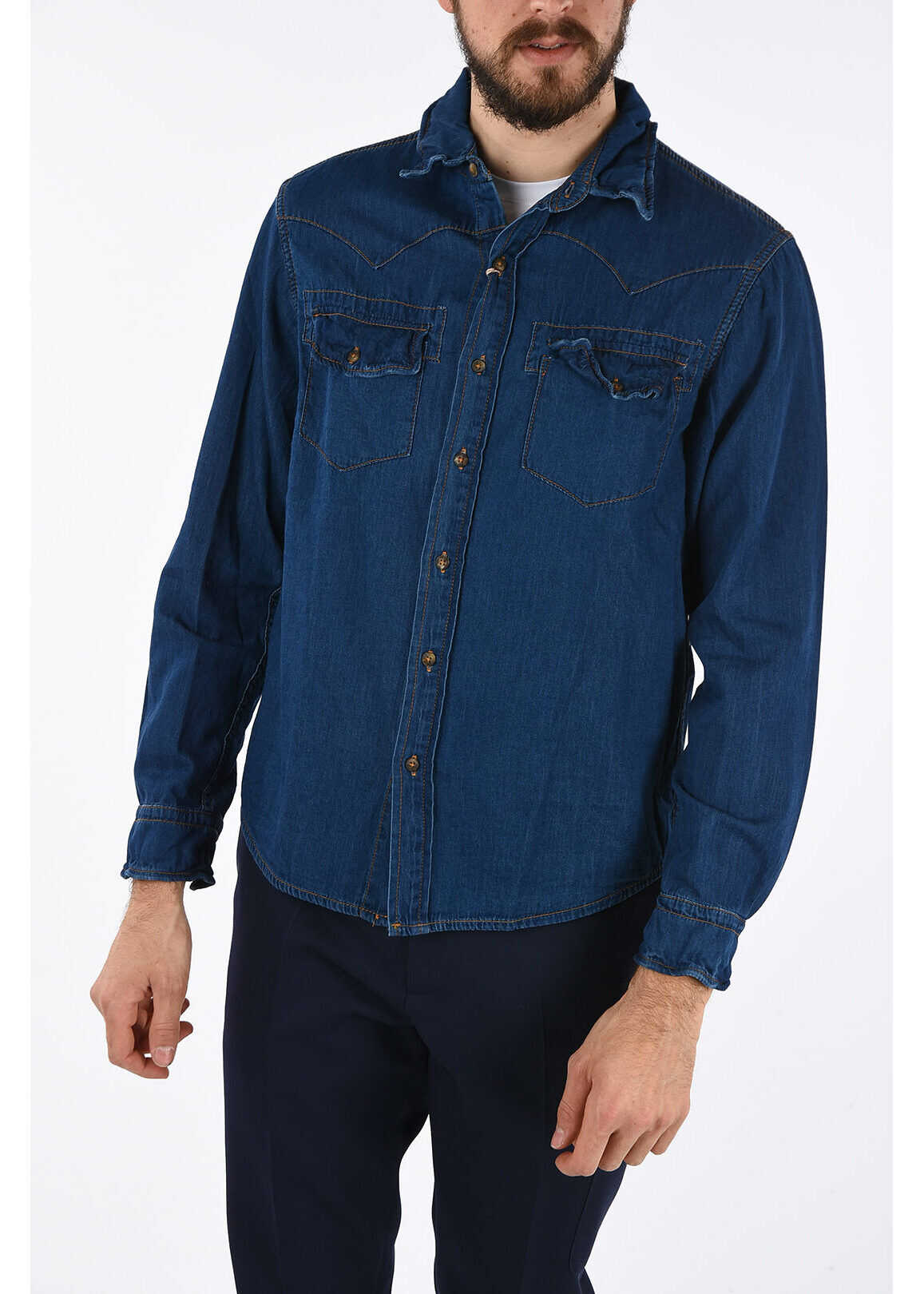 Original Vintage Style Denim FARGO Shirt BLUE