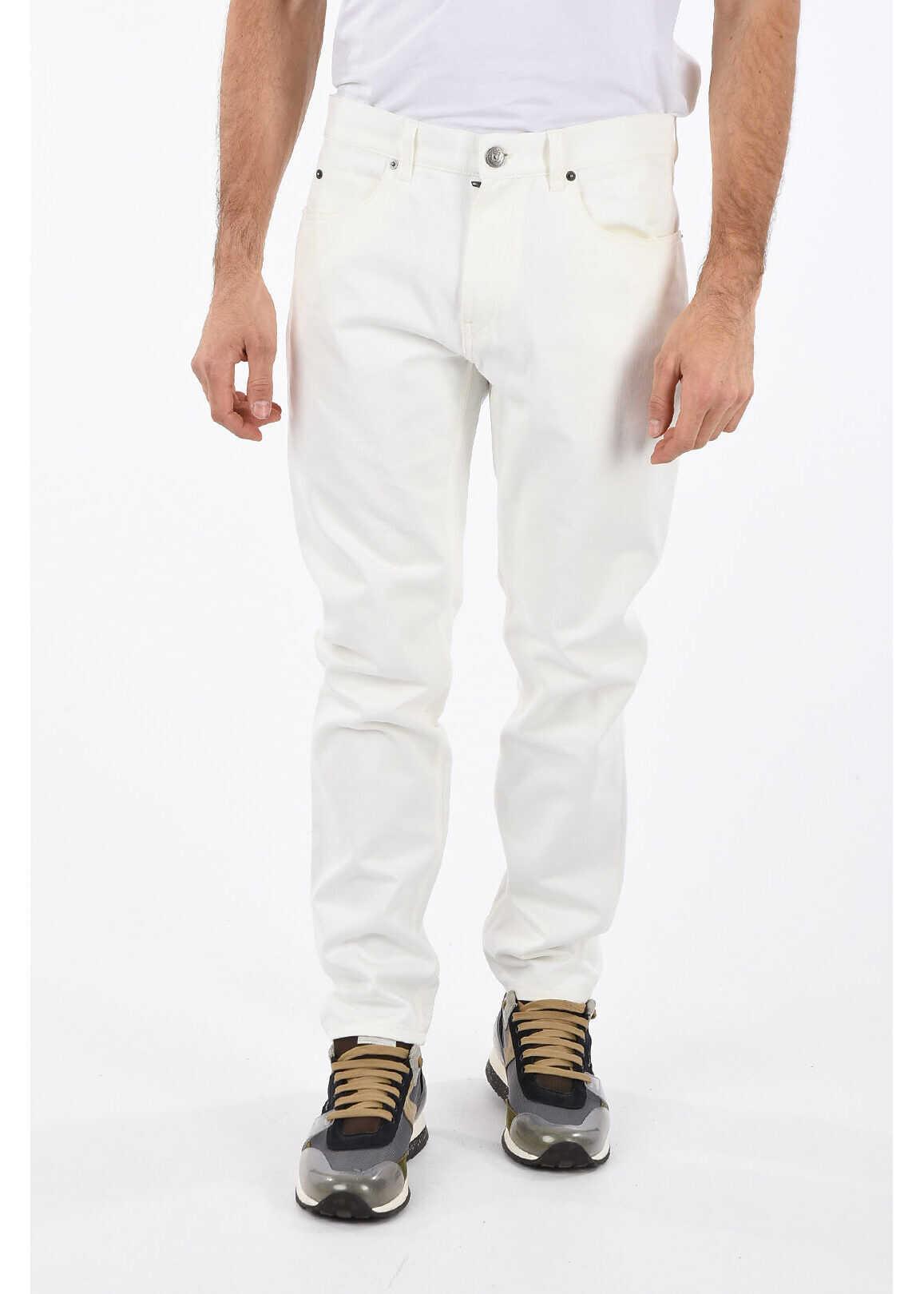 Salvatore Ferragamo 16cm Straigth Leg Jeans WHITE