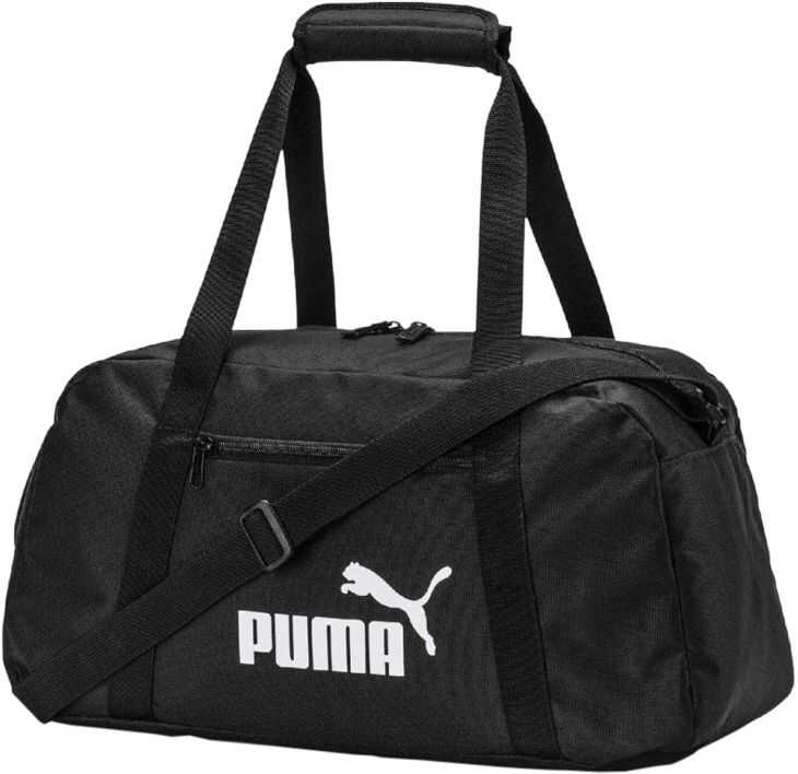PUMA Phase Sports Bag Black imagine b-mall.ro