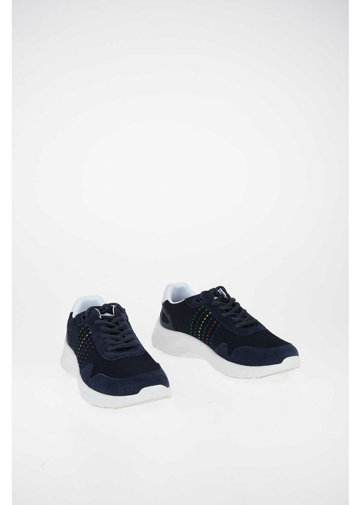 Paul Smith PS Fabric and Leather FIN Sneakers BLUE