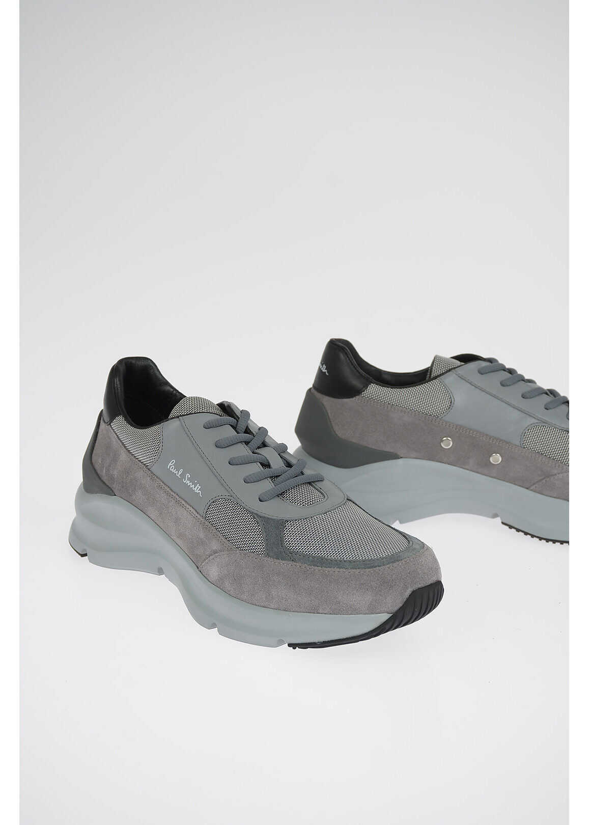 Paul Smith Fabric and Suede Leather EXPLORER Sneakers GRAY