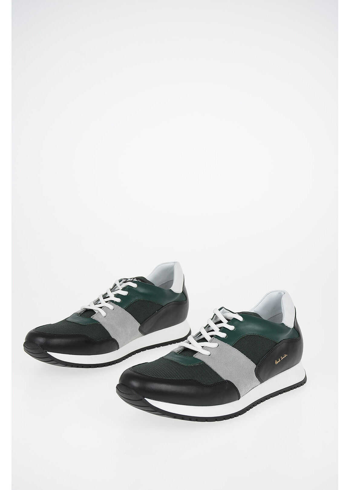 Paul Smith Fabric and Leather Sneakes GREEN