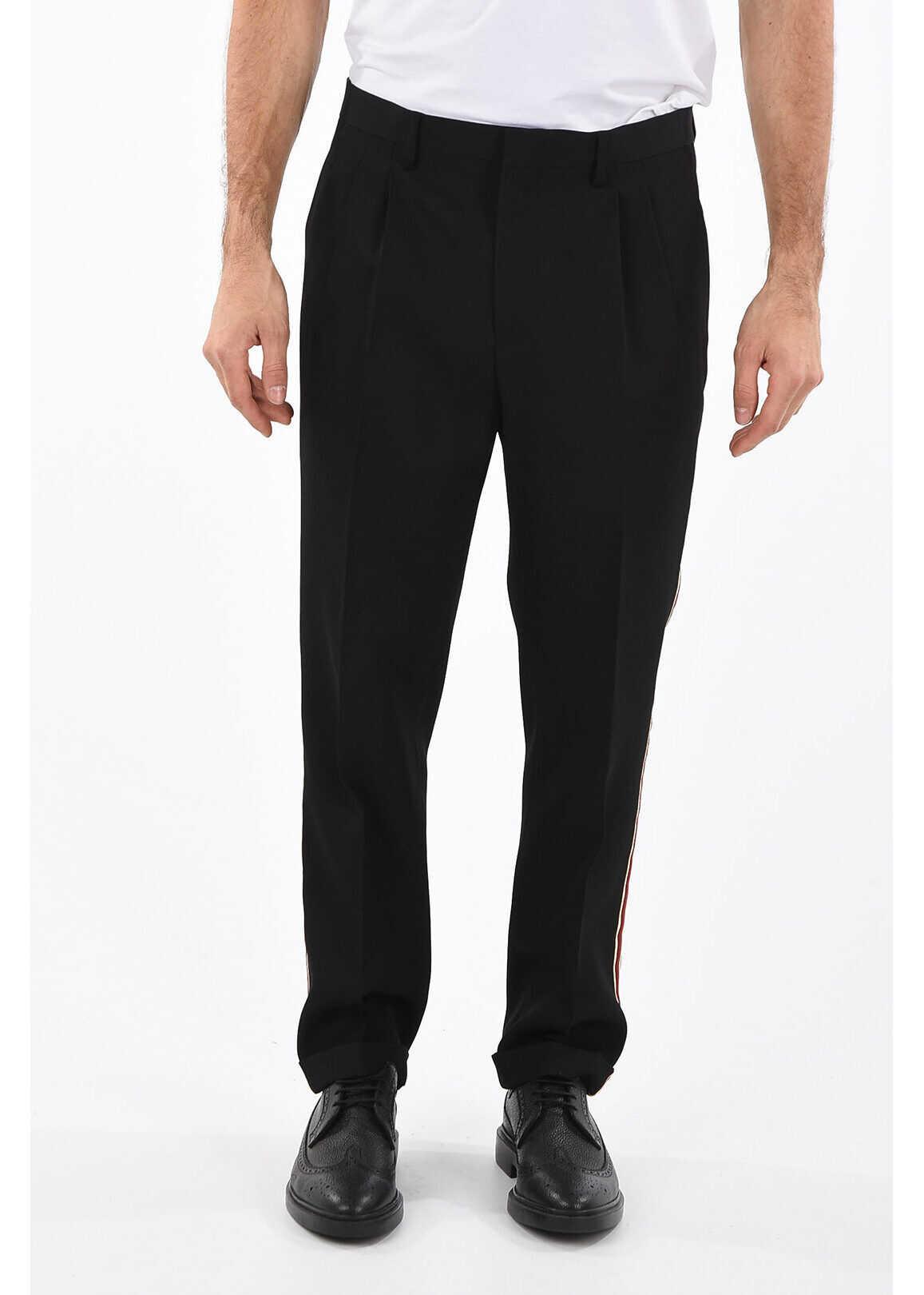 Calvin Klein 205W39NYC Wool Piping Pant BLACK