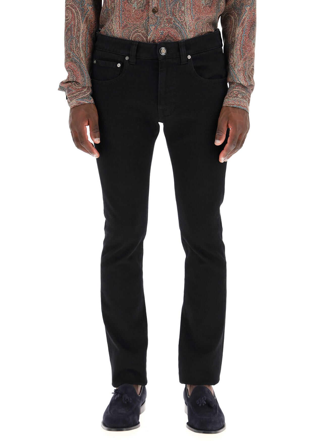 ETRO Slim Fit Jeans NERO imagine