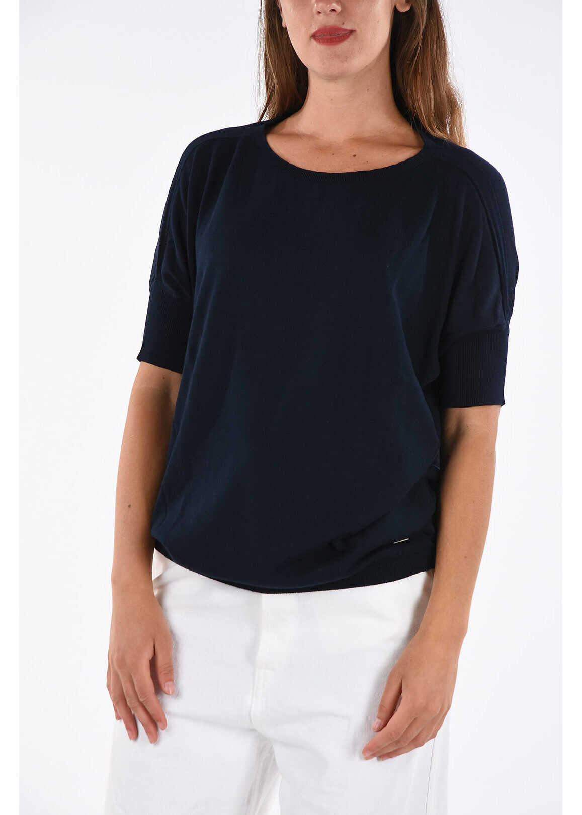 Fay Short Sleeve Sweater BLUE