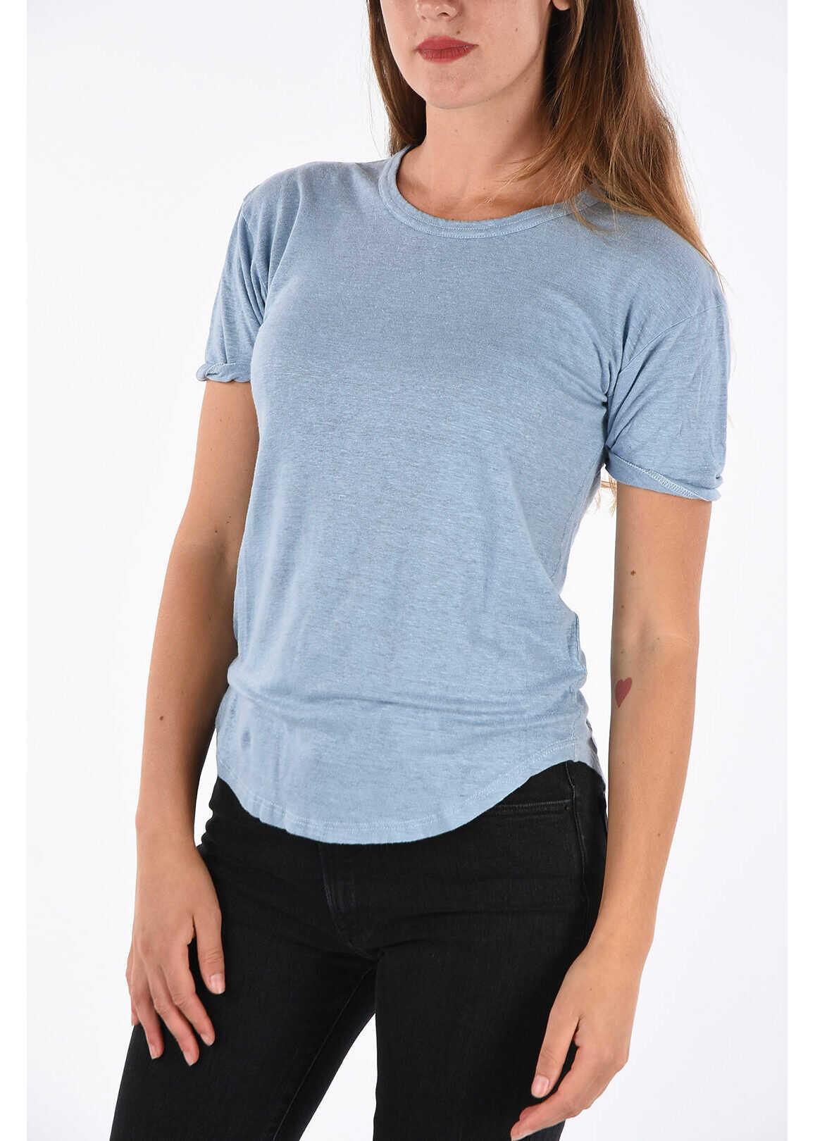 Isabel Marant ETOILE Flax Crew-Neck T-shirt BLUE