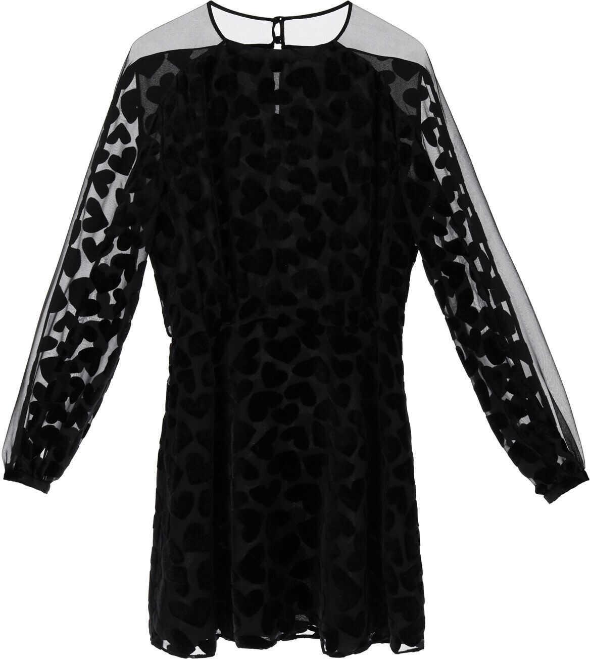 Saint Laurent Devore' Mini Dress NOIR