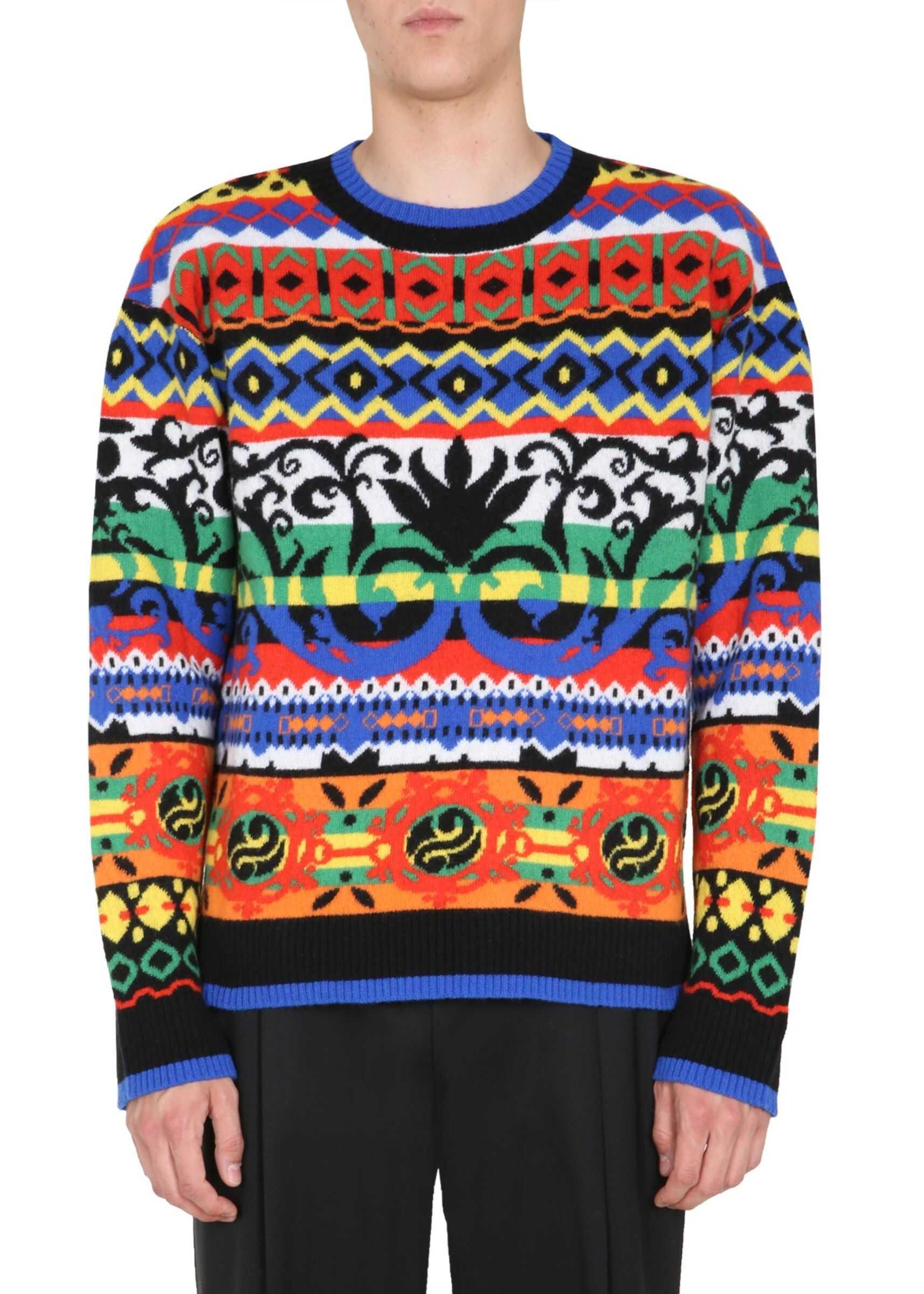 Moschino Crew Neck Sweater MULTICOLOUR imagine