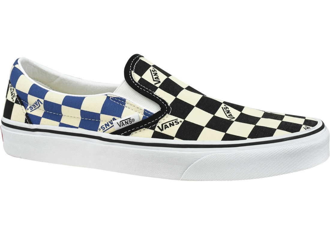 Vans Classic Slip-On Big Check White imagine b-mall.ro
