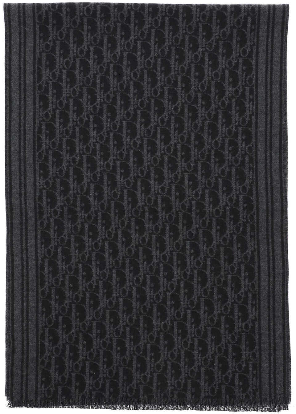 Dior Cachemire Oblique Scarf BLACK
