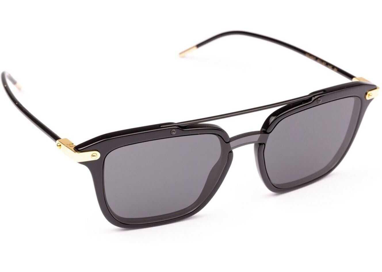 Dolce & Gabbana Double Bridge Black Square Sunglasses* Black