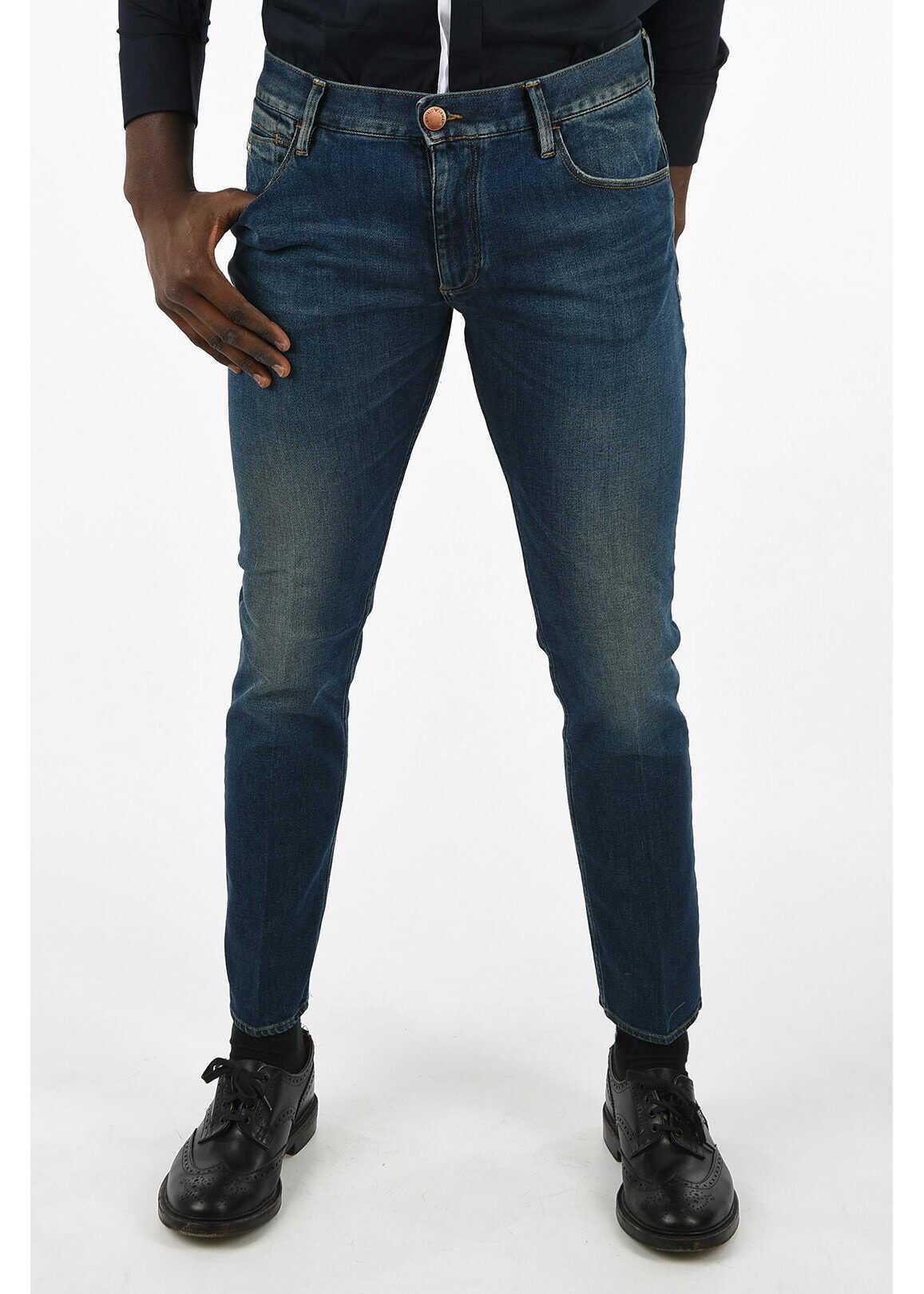 Armani EMPORIO 18 cm Slim Fit Jeans* BLUE